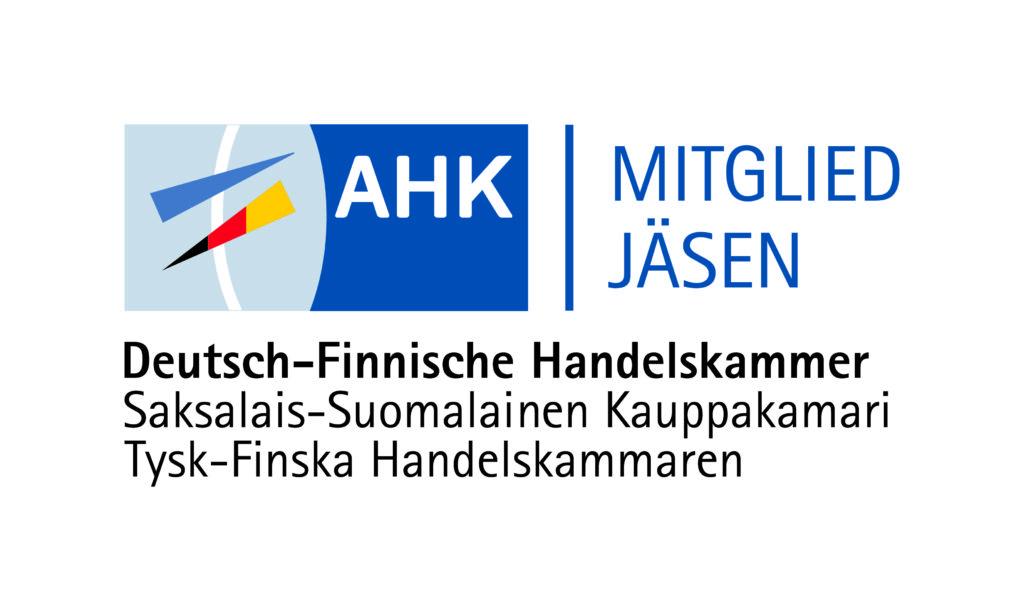 Logo Mitglied/Jäsen Deutsch-Finnische Handelskammer / Saksalais-Suomalainen Kauppakamari
